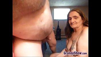 Grandma Sucking On A Cock For An Orgasm