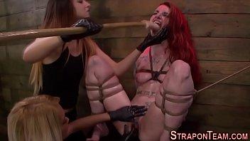 Bound bdsm slave fingering   threesome   mistress   hd