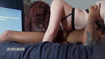 Gorgeous thick redhead sucks & fucks bbc • JayJadeMoon Amateur Couple