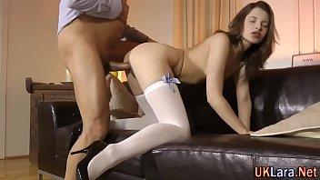Jizz older stockings brit