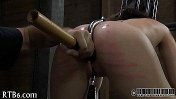 Brutal beating of babe'_s bottom