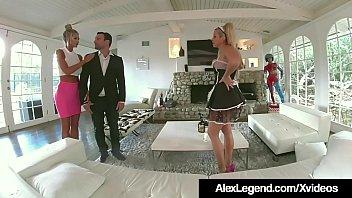 French Maid Savana Styles Fucks Hubby Alex Legend &amp_ Wife!