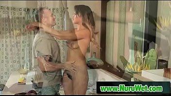 Amazing Sophia Leone offers a nice massage to Marcus London