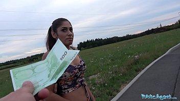 Public Agent Sexy British Asian fucks for strangers cash