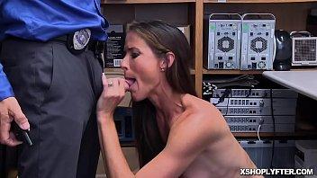 Milf Shoplifter Sofie Marie goes down on her knees!
