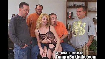 Tampa Slut Wife's Ass Banging Bukkake Party thumbnail