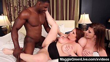 Curvy Blonde Maggie Green & Busty Milf Sara Jay... | Video Make Love