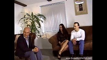 3some For Brunette Swinger Wife