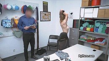 Big titty Shea deepthroats guards big cock