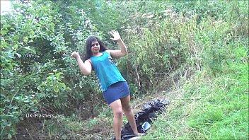 Indian amateur bbw Kikis public flashing and outdoor voyeur masturbation with sexy a