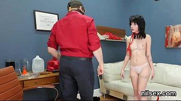 Kinky teenie is brought in anus asylum for awkward treatment