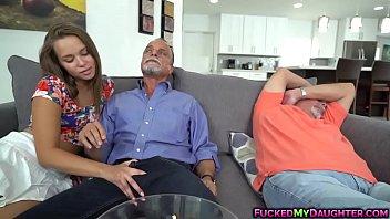 Liza Rowe got pounded hard by dad'_s friend