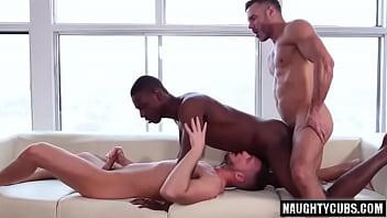 Big dick son threesome and cumshot