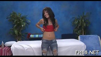 Naughty honey fucks and gives a hot massage!