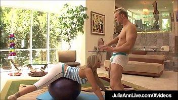 Hot Milf Julia Ann Cums Fucking Her Yoga Instructor!