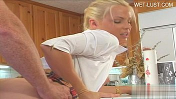 Hot daughter sperm swallow