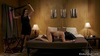 Busty lesbian hottie ass whipped lezdom