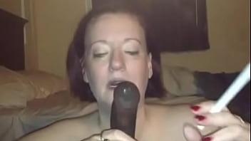 White Mature Smoking And Sucking BBC!