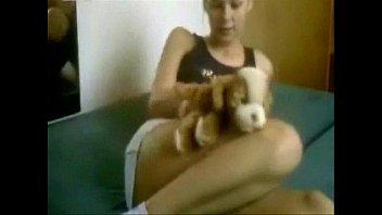 Masturbation dog hot