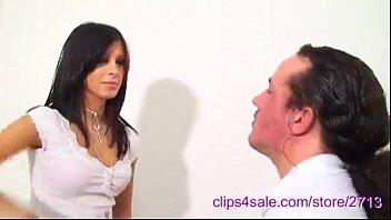 Italian bitch slapping her man like crazy