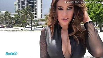 Camsoda - Latina Vanessa Veracruz Masturbating and Lesbian Sex With Bailey Brooke While Driving Lamborghini
