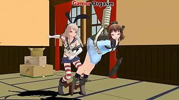 Kinky Girls Spanking Fun - GamerOrgasm.com