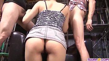 Maki Takei sucks cock dry then swallows huge load - More at Slurpjp.com