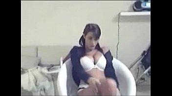 cute brunette teasing the webcam in hoodie   -tinycam.org