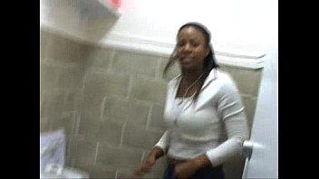 A Few Ghetto Black Girls Peeing On Toilet