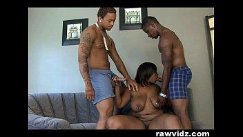 Skyy Black Ebony Slut Sets A Threesome