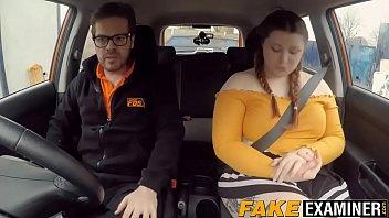 English BBW rides her driving instructors big fat cock