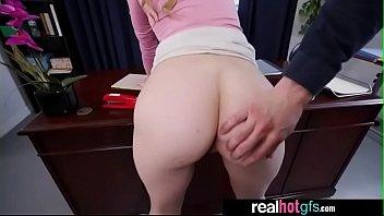 Sexy girlfriend Jillian Janson need sex in office on desk