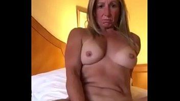 real Blonde Milf Pleasuring Her Pussy In Front Of Boyfriend