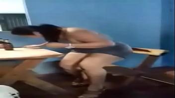 Brazilian bbw striptease in public bar