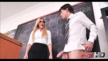 Hot Blonde MILF High School Teacher India Summer Fucks Student While Friend Records