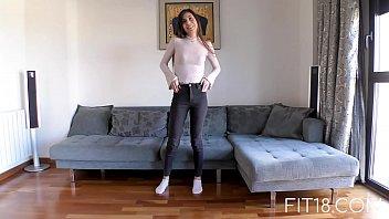 Fit18 - Anya Krey - 53kg - 173cm - Arab Teen  Loves Gagging - 69VClub.Com