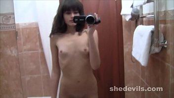 Wicked skinny self shot webcam girl Kira