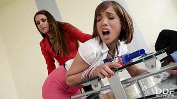 Dominant Boss Brandy Smile Analyzes submissive Tina Hot