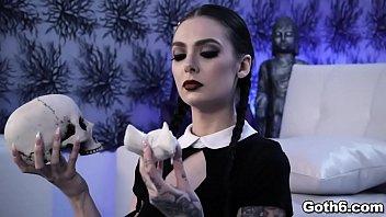 Gorgeous Gothic slut Marley Brinx is ready for some sex adventure with her horny boyfriend Markus Dupreeperiod