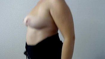 Bouncing natural tits.
