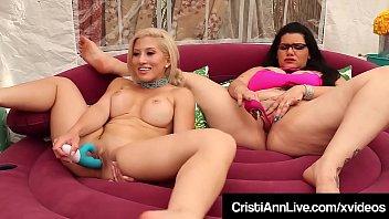 Asian Latina Cristi Ann Bangs Pussy With BBW Angelina Castro