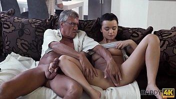 DADDY4K. Horny brunette unleashes all lust on boyfriend'_s old daddy
