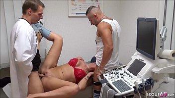 GERMAN Doctor Seduce Teen and Boyfriend to Fuck in Hospital