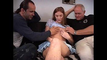 Pregnant redhead girl joins lucious bacchanalia