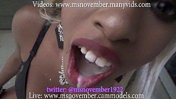 Ebony Cum Swallow