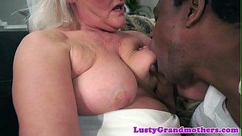 Busty european granny fucked interracially preview image