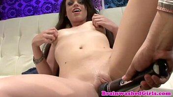 Hypnotized teen sucking her doctors cock
