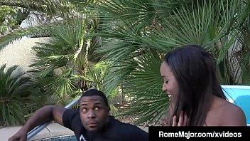 Black Knight Rome Major Pussy Plows Ebony Tart Ashley Pink!