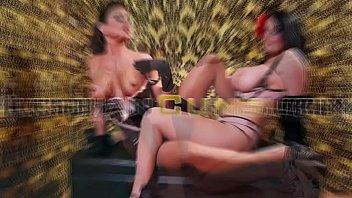 Lesbiancums.com ⇨ horny lesbian mistress fucking front the mirror