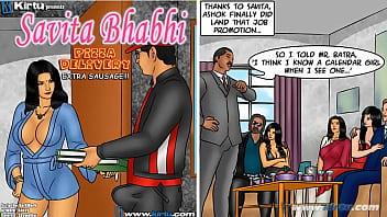 Savita Bhabhi Episode 78 - Pizza Delivery – Extra Sausage !!!